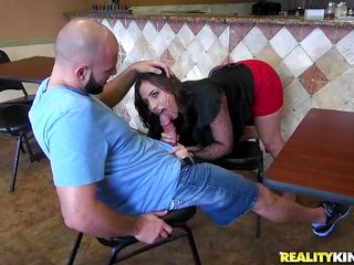 This waitress slut have a nice ass, a cute face and makes to this stud a oral-job in swap for a sum of money and it appears to be she like this. In this video the slut have a oral sex in the eatery, and her sexy gazoo make the stud horny and gives him a pleasure. Do you think this slut is worthwhile enough to satisfy you?