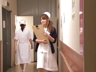 It was just a normal day of work for nurse Hikari when she discovered one of her patients masturbating. He caught her and laid her on the bed, got on top and took out his cock. Hikari was a bit scared at the beginning but the taste of his dick made her horny and she opened her cute mouth for his penis.