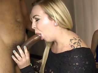 Wet pecker engulfing pleasures with smokin' hawt chicks