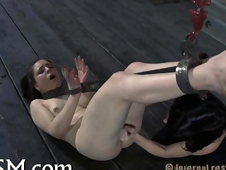 First timer in hardcore bdsm sex video 4