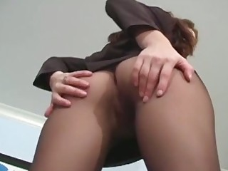 Pretty unfocused in deathly hose drills her twat with a toy