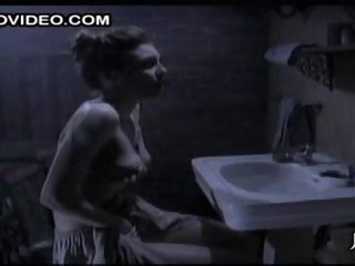 Horny Brunette Maria Ford Rubs Her Perky Milk sacks and Masturbates