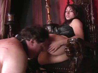 Femdom turn the heat on he send off her asshole