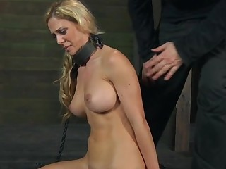 Clamped roughly beauty gets say no to fuck holes tortured