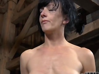 Hard teasing for beauty's nipples and Rabelaisian shaved cunt