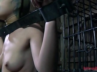 Beauty acquires hardcore clamping for her huge racks