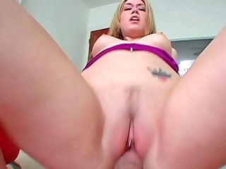 Tiffany Rayne sucking fat wiener and getting deeply stuffed