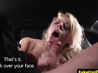 Dogging amateur facialized at the end of one's tether english policewoman