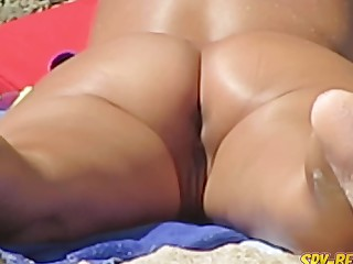 Nude Beach Milf Non-professional Voyeur Close Beside Pussy And Ass