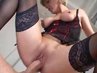 Mature with chubby special riding a young cock like a slut