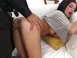 Fat cock be advisable for petite Adriana. Perfect puerile pain in the neck