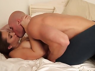 Wee Dani Daniels gets nailed away from Johnny Sins