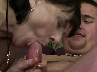 Margo. T. fucks and sucks a fat, sweaty man
