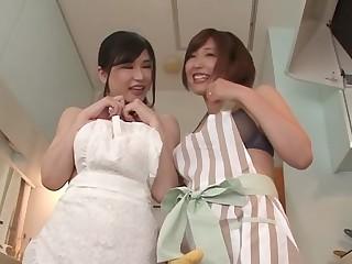 Anri Okita,Asahi Mizuno in Lucky Man Comes Home To Anri And Asahi - MilfsInJapan