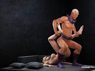 Magneto and the Broad in the beam Busty Racy Blonde