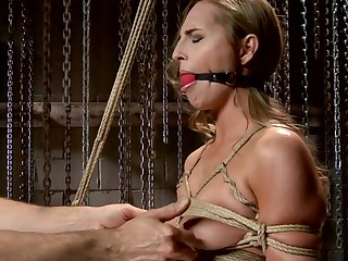 Gorgeous Newcomer Defeated by Bondage and Squirting Orgasms