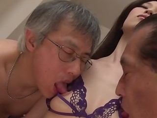 Exotic Japanese floosie Misaki Yoshimura in Horny JAV uncensored Creampie couple