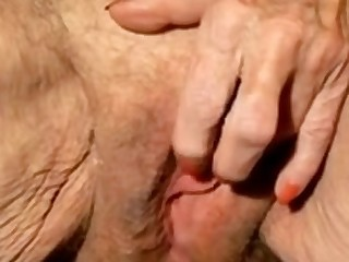 Large Clits 'round in a trice Granny Large Clitoris