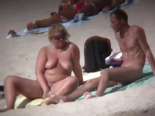 Compilation of seashore nudists videos with big boobs and ass