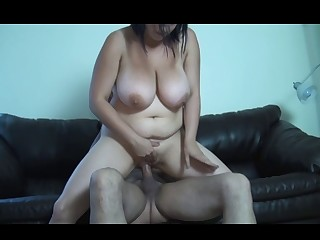 Biggest natural Cherish MELONS and real orgasms