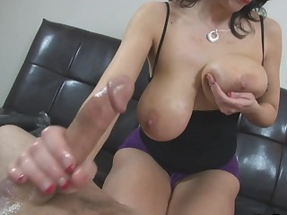 call someone to account mother I'd like to fuck with stupendous natural zeppelins gives femdom tugjob