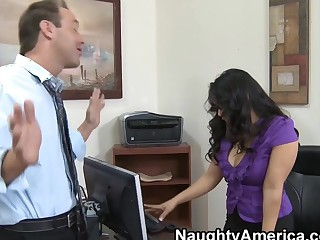 Jessica Bangkok & Spinal column Powers take Naughty Office