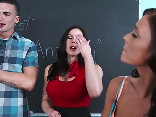 Kendra Lust & Whitney Westgate & Clover helter-skelter My First Sex Teacher