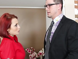 Jessica Robbin & Aaron Wilcoxxx in Substandard Office