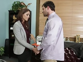 Jasmine Caro & Preston Parker nearly Naughty Office