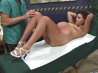 Krista is having her check up. She's so beautiful this stunner attracts the doctor and kisses her all over. He probes her wet and warm pussy using his tongue before inserting his fingers inside her. Krista gets horny and sucks the doctor's dick. this stun