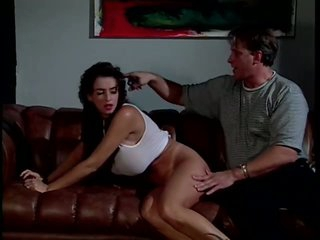 Submissive Brunette Coral Sands Loves Getting Her Round Booty Spanked