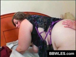 BBW lesbos plaything their plump cunts