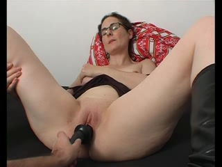 Black sex-toy enraptured strokes