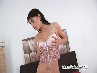Slutty Black Haired Stracy Sucks And Rides Cock