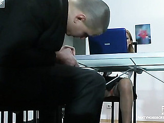 Antoinette&Maurice nasty pantyhose movie scene