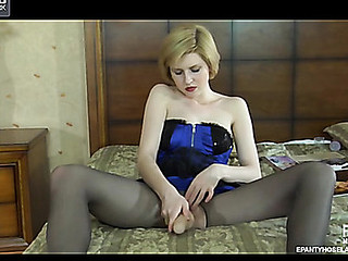 Alina in awesome pantyhose video scene
