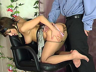 Sexy honey teasing police officer adjacent to say no to nyloned feet fretful for unyielding perk