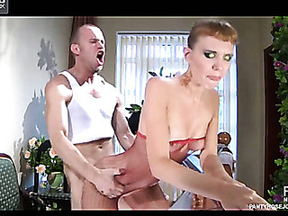 Aubrey&Herbert videotaped whilst pantyhosefucking