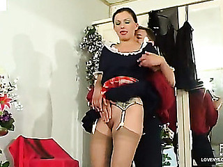Well done French jail-bait in illusory top stockings treasured and humped by a slavemaster