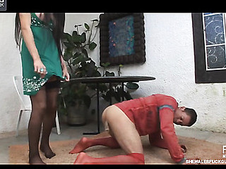 Stockinged chap lusting be proper of sexy butt-cramming front with a sex-avid transsexual