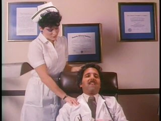 Retro Porn Legend Ron Jeremy Eats and Fingers a Lewd Nurse's Hirsute Muff