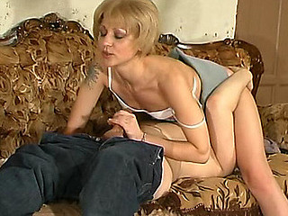 Voluptuous mother i'd like to fuck doing 10-Pounder-stiffening strip-tease in front of younger fellow