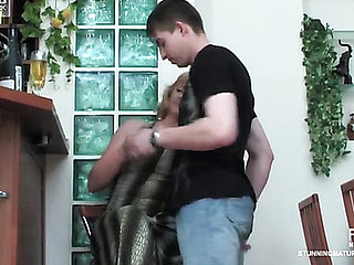 Emilia&Arthur red sexy aged movie scene