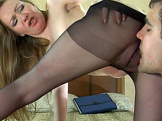 Leila&Lucas pantyhose mom on movie