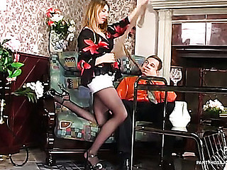 Alice&Peter nasty pantyhose job integument