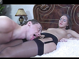 Imported playgirl in spruce black stockings gets dicked hard after muff-diving