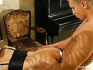 Lusty older chick with fur pie so soaked and so mellow begging for doggy position fuck