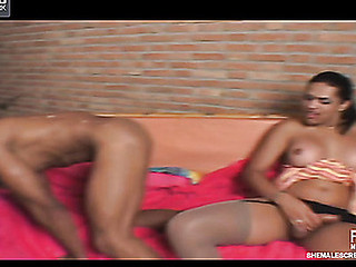 Thaina red sexy t-girl action
