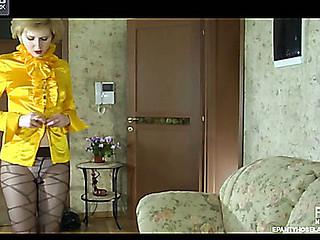Alina pantyhose tease clip