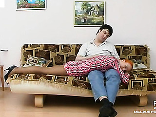 Redhead catholic lust around receive her arse drilled out of in any event off her tights
